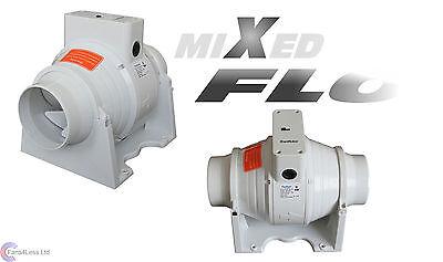 SALE XFLO100T Timer Fan in line Mixed Flow 4'' 100mm dia Bathroom Extractor Fan