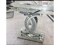 CC Crushed Diamond Small Console Table BRAND NEW