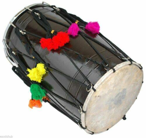 Musical Punjab Bhangra Dhol,Indian Wedding Mango Wood Musical Instrument