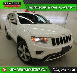 2015 Jeep Grand Cherokee Limited *HEATED LEATHER, LOW KMS, REMOT