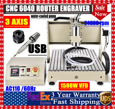 3 Axis Cnc Router 6040 Usb Engraver Milling Woodworking 3d Engraving Machine