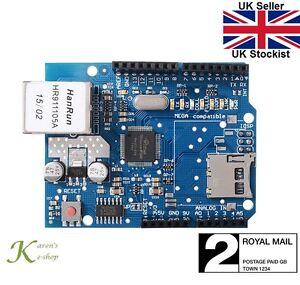 W5100 Network Ethernet LAN Shield Module with SD Card Reader Arduino UNO Mega