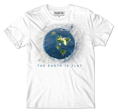 Flat Earth T Shirt  Infinite Plane  Earth Is Flat  Firmament  New World Order