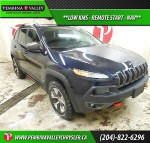 2016 Jeep Cherokee Trailhawk *LOW KMS, REMOTE START, NAV*