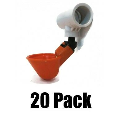 20 Pack Poultry Water Drinking Cups-chicken Hen Automatic Drinkers Pvc Fittings