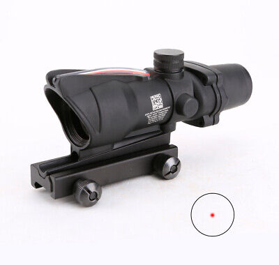 Tactical ACOG 1X32 Real Fiber Scope Red Dot or Green Dot Sight Optics