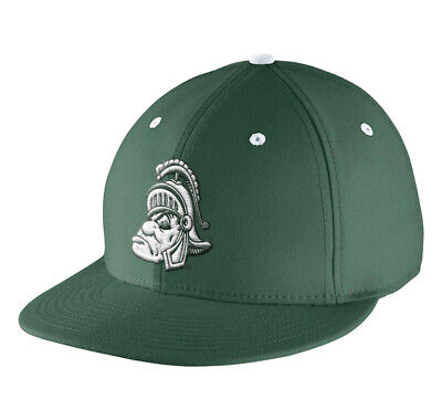 Nike Unisex Michigan State Spartans Vault Swoosh Flex Hat Green Size covid 19 (Michigan State Spartans Green coronavirus)
