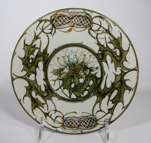 Arts & Crafts Hand Painted Plate, Thistle, Style of Rozenburg , Liberty