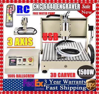 Usb 6040 3 Axis Cnc Router Engraver Sb Metal Engraving Milling Machine Wrc