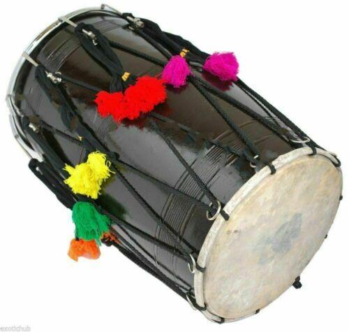 Musical Mu Bhangra Dhol, Indian Wedding Mango Wood