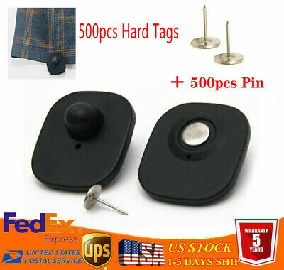 500pcs Anti Theft Retail Supermarke Eas 8.2mhz Security Hard Tags Black Pins