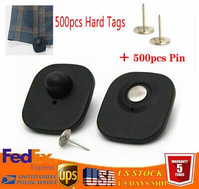 500pcs Anti Theft Retail Supermarke Eas 8.2mhz Security Hard Tags Black Pins
