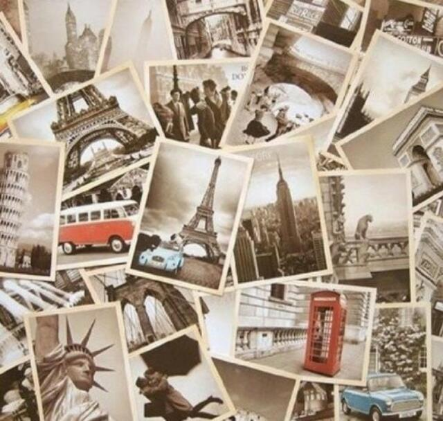 Outop 32 PCS 1 Set Vintage Retro Old Travel Postcards for Worth Collecting, New,