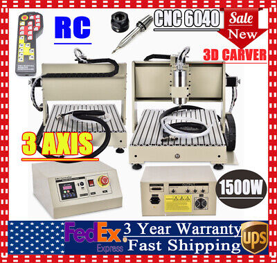 Cnc 6040 Router 3 Axis Engraving Milling Machine 1500w 3d Kit With Controller