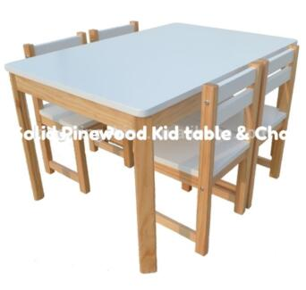 BRAND NEW PINEWOOD KIDS TABLE with 4 CHAIRS