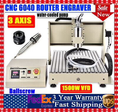 1500w 3 Axis Diy Cnc 6040 Router Engraving Drilling Milling Machine Kit 24000rpm