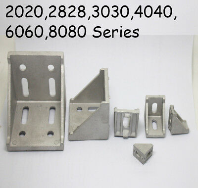 L Shape T Slot Aluminum Right Brace Corner Angle Bracket Profile 2030406080