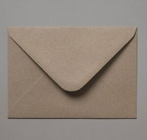 100 C6, C7 or 5x7 Recycled Fleck Kraft Envelopes for Wedding Cards FREE AUS P&P