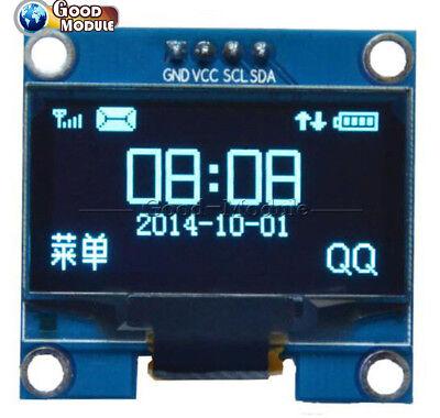 1.3 Oled Lcd 4pin Blue Display Module Iic I2c 128x64 3-5v Interface For Arduino