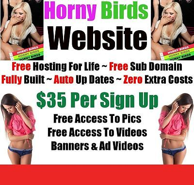 Adult Website - Zero Extra Fees - Home Online Internet Business - Fully Built