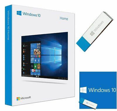 Microsoft Windows 10 Home 64-bit Software USB Key with License Key****SEALED****