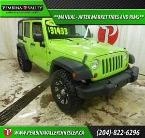 2013 Jeep Wrangler Sport *MANUAL, AFTER MARKET TIRES AND RIMS*