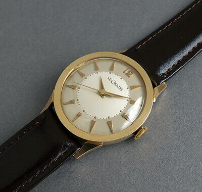 JAEGER LECOULTRE 14K Solid Gold Vintage Watch 1953