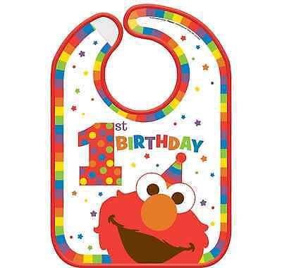 Sesame Street Elmo 1st Birthday Vinyl Bib ~ Party Decorations Favor Supplies - Elmo Party Decorations