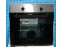 b318 black and stainless steel zanussi single oven comes with warranty can be delivered or collected