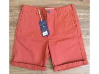 Jack Wills Windmore Chino Shorts - Orange 30R BNWT RRP £44.50