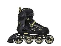 Brand-new Story Fusion Inline Skates   Black/Gold   Size 30-33