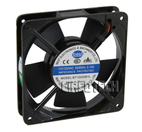 120mm x 25mm 110V 115V 120V Ball Bearing AC Cooling Fan - Low Speed