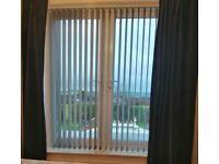 Vertical grey blinds 6ft wide to fit patio doors