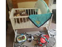 Rocking Crib - With bundle of extras!!! Bargain!
