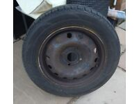 Wheel rim and tyre tyre never used size 185/65 r14