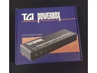 TGI Power Box Micro Power Supply for guitar/bass effects pedals etc TGIPB1 boxed