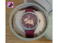 Radley RY2085 Ladies 'The Great Outdoors' Berry Leather Strap Watch – NEW – RRP: £79.95