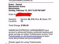 Drake tickets row B