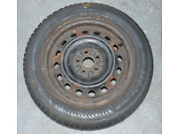 TOYOTA AVENSIS T reg 5 stud spare WHEEL WITH TYRE