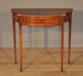 Attractive Reprodux Small Vintage Walnut Side Writing Hall Table with Drawer