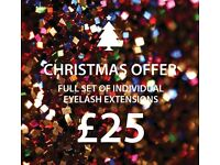 £25 Xmas Offer Individual 1:1 eyelash extensions - MOBILE Edinburgh area