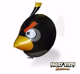 NEW Angry Birds Black Air Swimmers Turbo - Remote Control Flying Balloon Toy