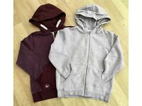 NEXT HOODIES AGE 9YRS, 1 LIGHT GREY, 1 BURGUNDY