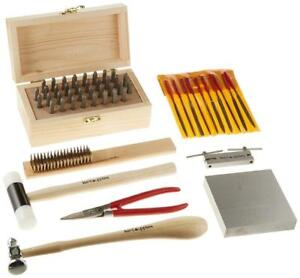 NEW Kent Supplies Metal Stamping Tool Kit with Alphanumeric Stamps and Assorted Tools