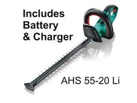 Bosch AHS 54-20Li Cordless Hedgecutter with Battery & Charger - Cost £270 BRAND NEW