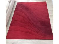 Beautiful Marks & Spencer 100% Wool Rug Size 170cm x 120cm Immaculate Condition