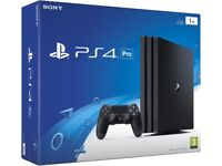 BOXED PS4 PRO 1tb memory WITH ONE CONTROLLER ALL CABLES AND 3 MONTHS WARRANTY