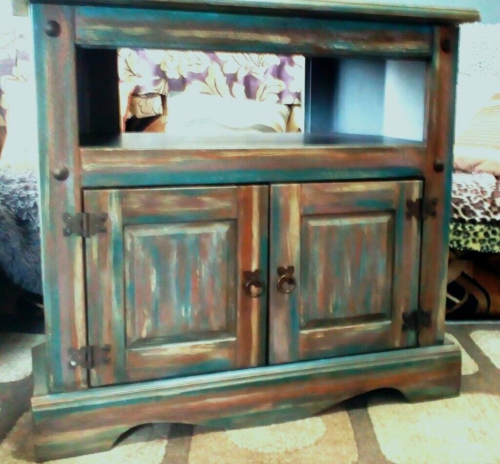 Corona Mexican Pine Solid Wood Corner Cabinet Tv Unit Urban Upcycled Annie Sloan Branded Waxes Nn9 In Finedon Northamptonshire Gumtree