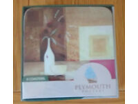 Plymouth Pottery Vin Blanc Coasters - NEW & SEALED