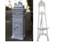 White Wedding Royal Mail Post Box and White Wedding Easel package £55